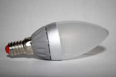 Light-emitting diode bulb on a light background Royalty Free Stock Images