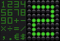 Light emitting diode - info panel Stock Photography