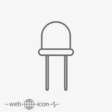 Light-emitting diode vector icon Stock Photography