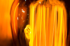 Light-emitting filament cob lamp threads macro Stock Photos