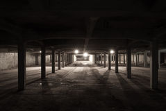 Light at the end. Place under an old building Royalty Free Stock Photos