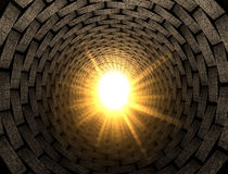Light At The End Of A Brick Tunnel Royalty Free Stock Photography