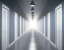 Light at the end of the corridor Royalty Free Stock Images