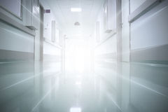 Light at the end of the corridor. The concept of religion, life Stock Photo