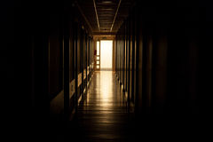 Light at the end of corridor Stock Photography