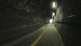Light at the End of Railway Tunnel stock video