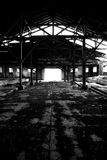 Light at the end of ruined place Stock Photography