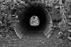 Light at the end of the Tin Tunnel royalty free stock photo