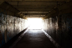 Light on the end of the tunnel royalty free stock photography