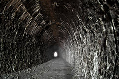 Light in the end of tunnel Royalty Free Stock Photography