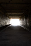 Light on the end of the tunnel Royalty Free Stock Image