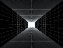 Light in the end of a tunnel Stock Photo