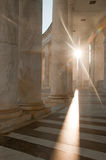 Light at the end of the Tunnel. Light flare at Arlington National Cemetery Stock Image