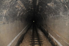 Light in the end of tunnel. Light in the end of a tunnel Stock Photo