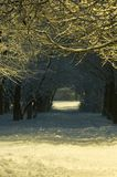 Light At The End Of Tunnel. Nigth. Winter. Light at the end of tunnel Stock Photo