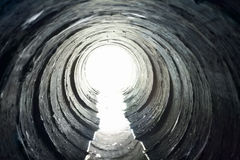 Light at End of Tunnel Royalty Free Stock Photography