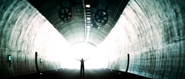 Light at the end of the tunnel Royalty Free Stock Photos