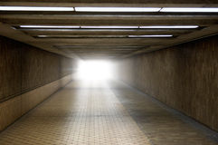 Light at the End of a Tunnel Royalty Free Stock Image