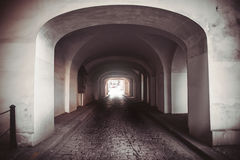Light at end of tunnel.  Stock Photography