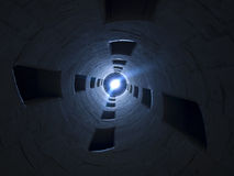 Light at the end of the tunnel. Photo taken in Da Vinci stairs of Chambord Castle Stock Images