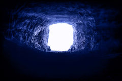A light in the end of a tunnel Royalty Free Stock Photo