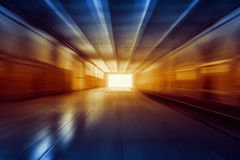 Light in end of tunnel Stock Photography