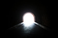 A light at the end of the tunnel Royalty Free Stock Photo