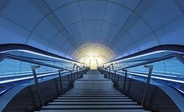 Light at the end of the tunnel. Royalty Free Stock Image