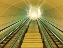 Light at the end of the tunnel. Stock Photography