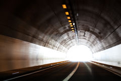 Light at the end of a tunnel Royalty Free Stock Photos