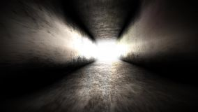 Light at the end of the tunnel. Going to Hope.  stock video footage