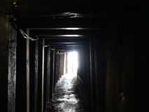 Light at the end of the tunnel. Goldmine, light at the end of the tunnel, the end is in sight Royalty Free Stock Photos