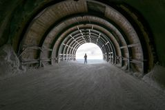 Light at the end of the tunnel, hope and journey Royalty Free Stock Photography