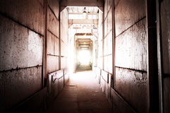 Light at the end tunnel Royalty Free Stock Photos