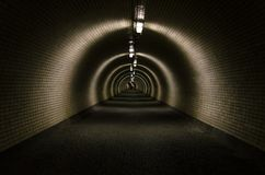 Light at end of the tunnel royalty free stock photography