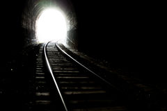 Light at end of the tunnel Royalty Free Stock Images