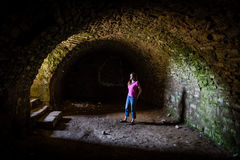 Light at the end of the tunnel Stock Image