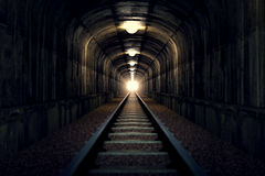 Light at the end of tunnel. Stock Images