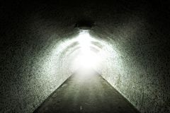 Light at the end of a tunnel Stock Photography