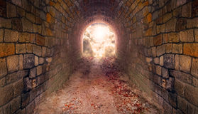 Light at end of the tunnel. Royalty Free Stock Images