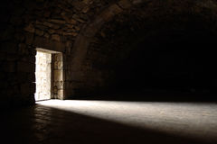 Light entering through door Royalty Free Stock Photos