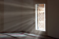 Light entering through open door Royalty Free Stock Image