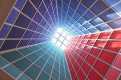 Light entering a pyramid tunnel Stock Photos