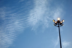 Light in evening background Royalty Free Stock Image