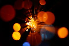 Light explosion background. Colorful light explosion on black background. Futuristic wallpaper Royalty Free Stock Image