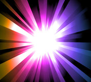 Light Explosion with Rainbow gradient background Royalty Free Stock Images