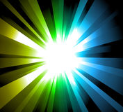Light Explosion with Rainbow gradient background Stock Image