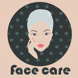 Light face care icon Stock Photo