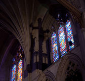 Light falling in gothic cathedral Royalty Free Stock Photography