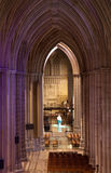 Light falling in gothic cathedral Royalty Free Stock Images